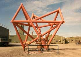 Conundrum sculpture in Prudhoe Bay