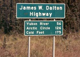 1994 sign, showing distances to northbound destinations