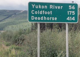2001 sign, showing distances to northbound destinations