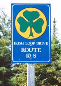 Irish Loop Drive marker, with shamrock symbol