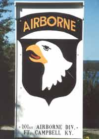 Screaming Eagles emblem of the 101st Airborne